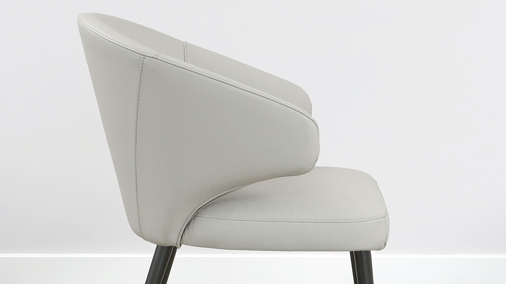 light grey leather chair
