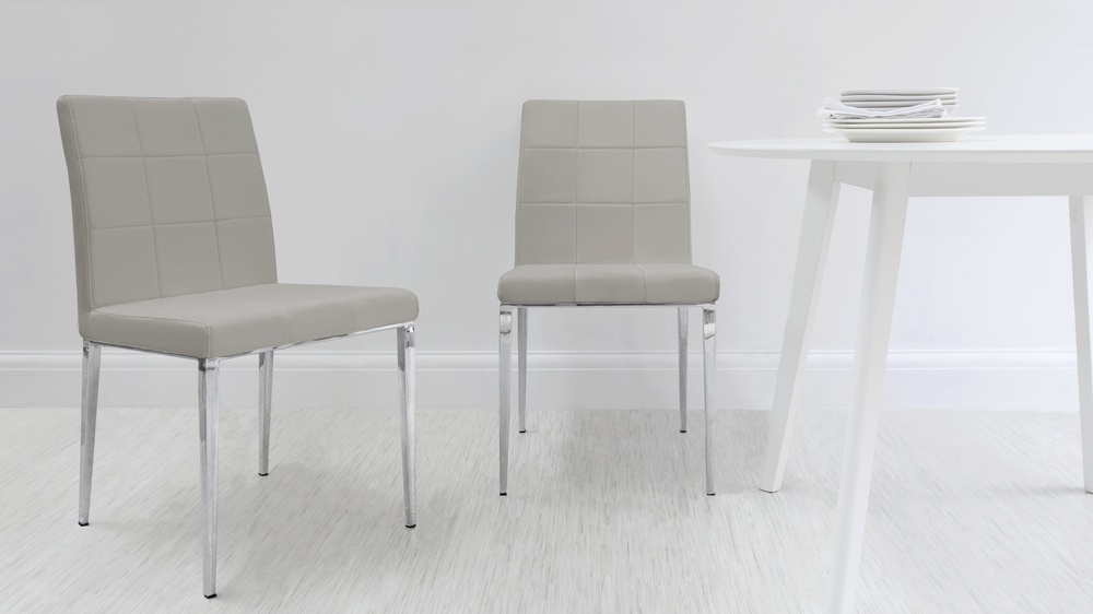 grey faux dining chairs. modern quilted dining chairs. contemporary grey faux chairs i