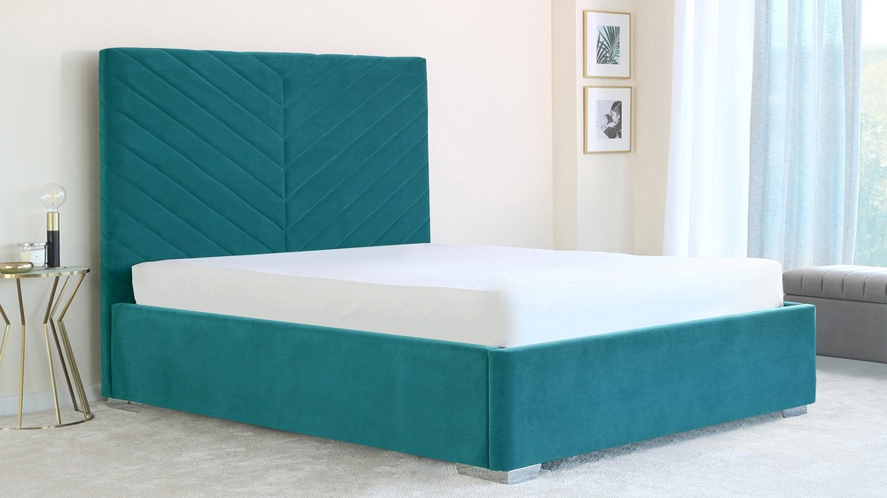 Leo king size ottoman bed