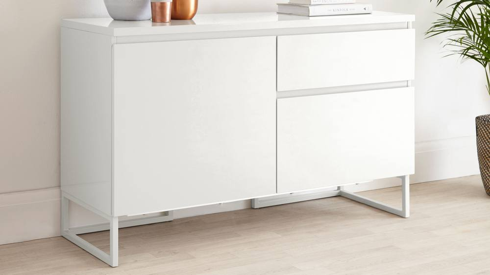 White Gloss Compact Sideboard