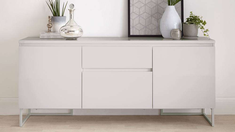 Grey High Gloss Modern Sideboard