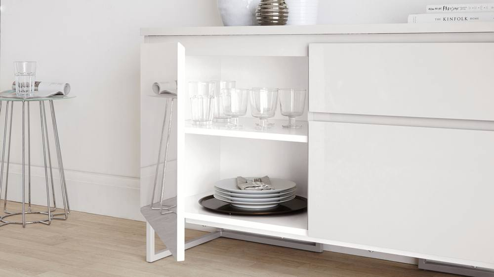 Large white sideboard