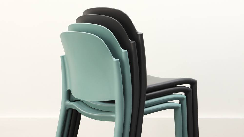 Stackable modern outdoor chairs