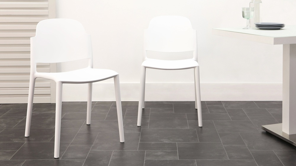 Modern white lola garden chair