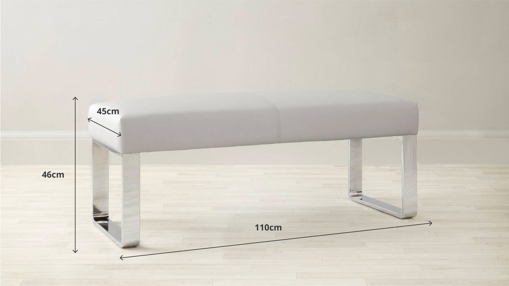 leather bench dimensions