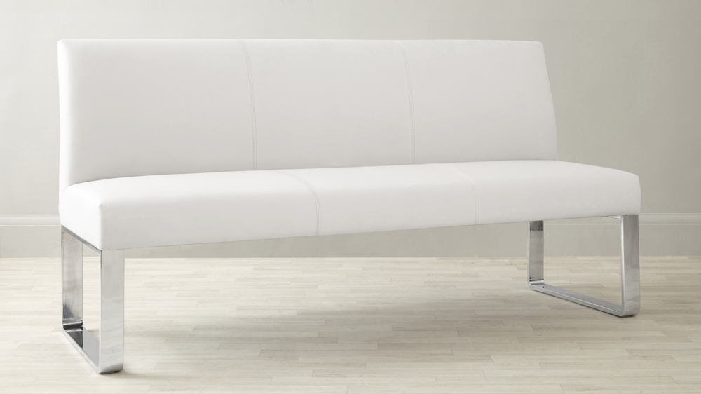 Modern white dining bench UK delivery