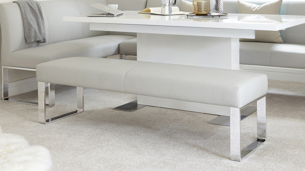 Soft modern leather bench