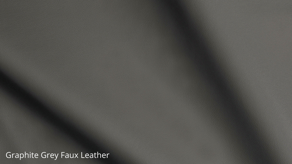Graphite grey faux leather