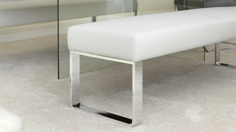 Bench with chrome legs