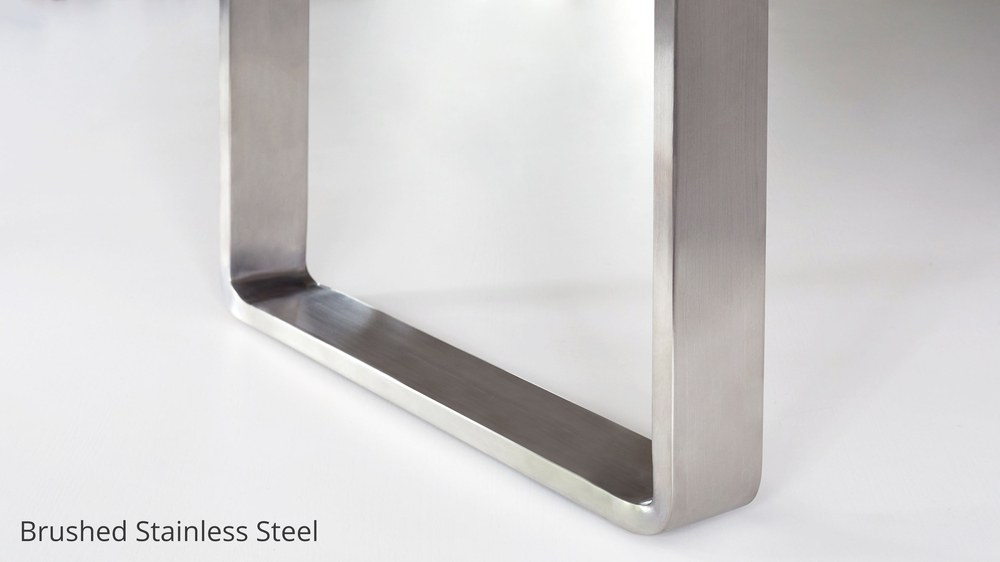 Brushed stainless steel