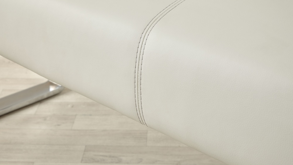 Soft durable leather bench