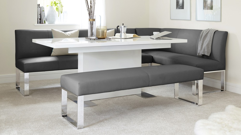 Graphite Grey left hand Corner Bench