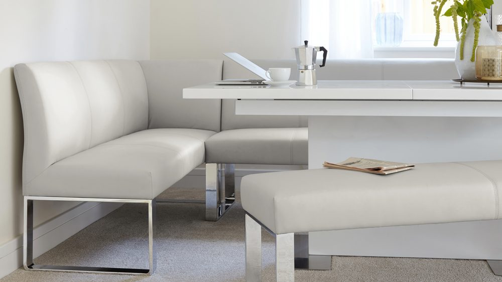 Modern Leather corner bench set
