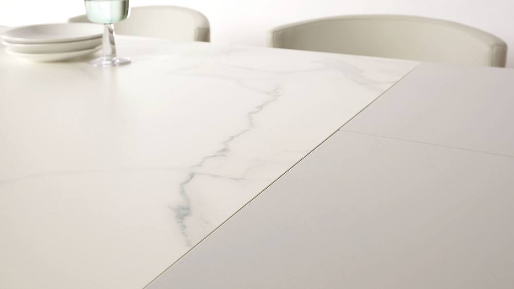Marble ceramic extending dining table