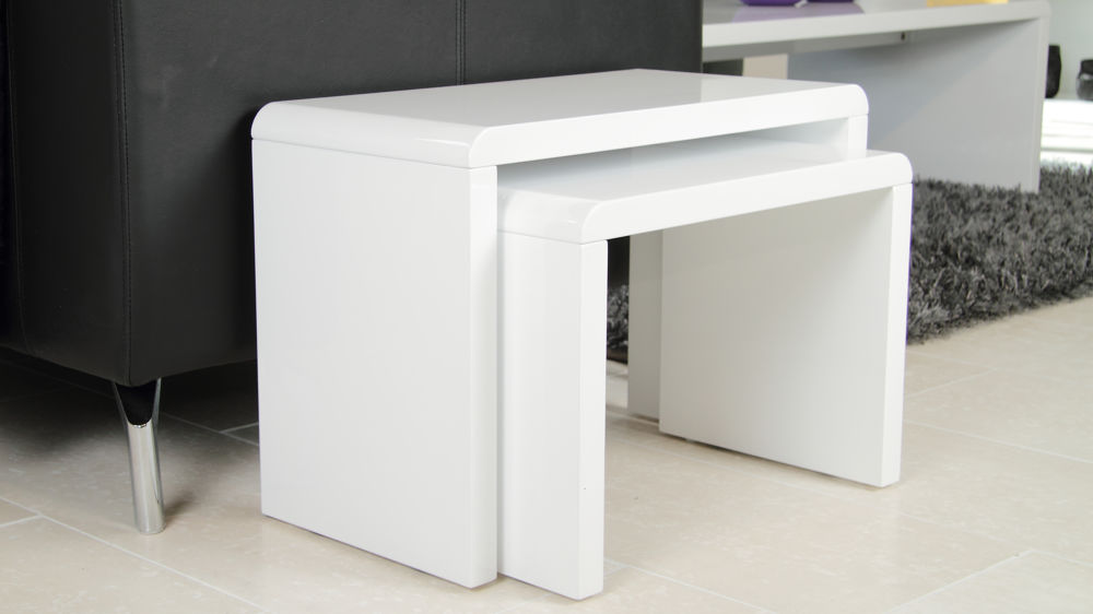 White Gloss Nest Of Tables