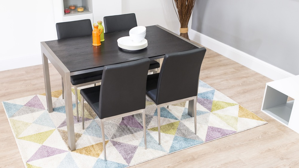 Black Extending Dining Set