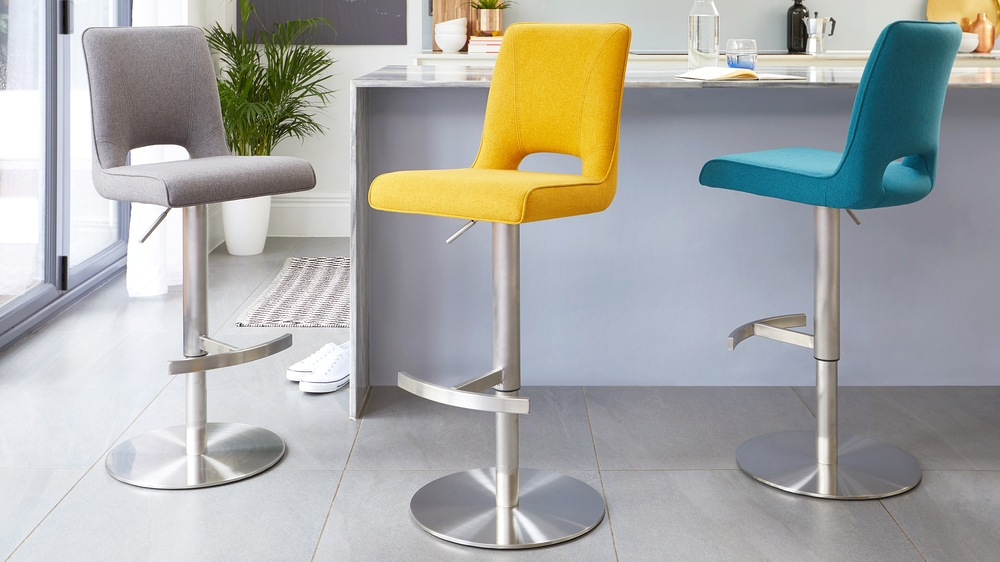 Colourful comfortable gas lift bar stools