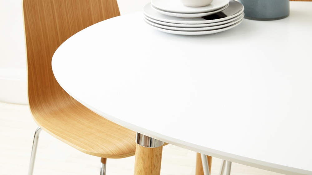 matt white dining table
