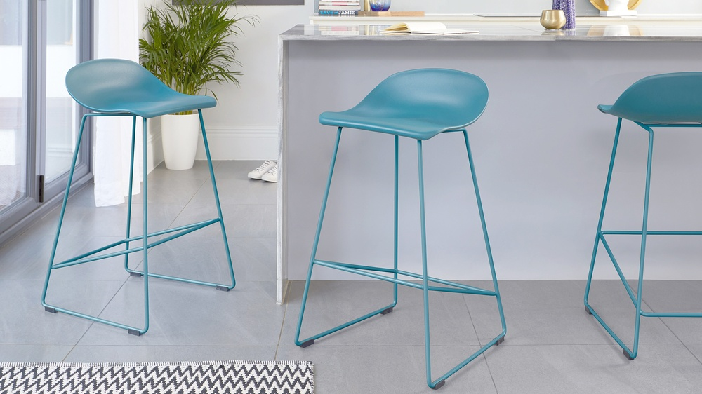 Colourful kitchen stools