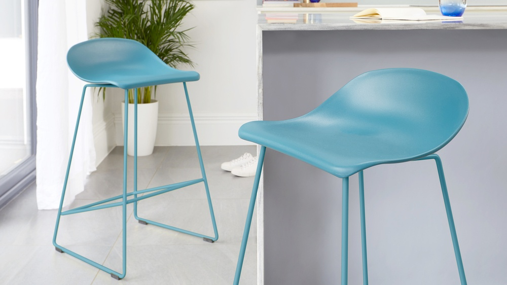 Colourful easy clean bar stools