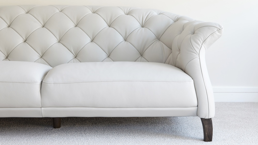 Chesterfield sofa modern  Modern 2 Seater Leather Chesterfield Sofa | UK