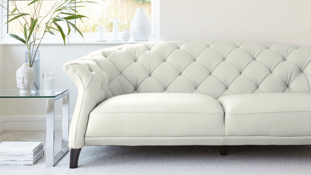 White Luxurious Leather Sofa