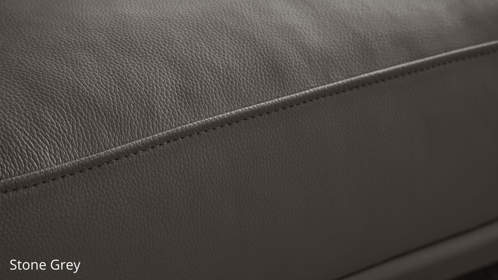 Stone Grey Durable Leather