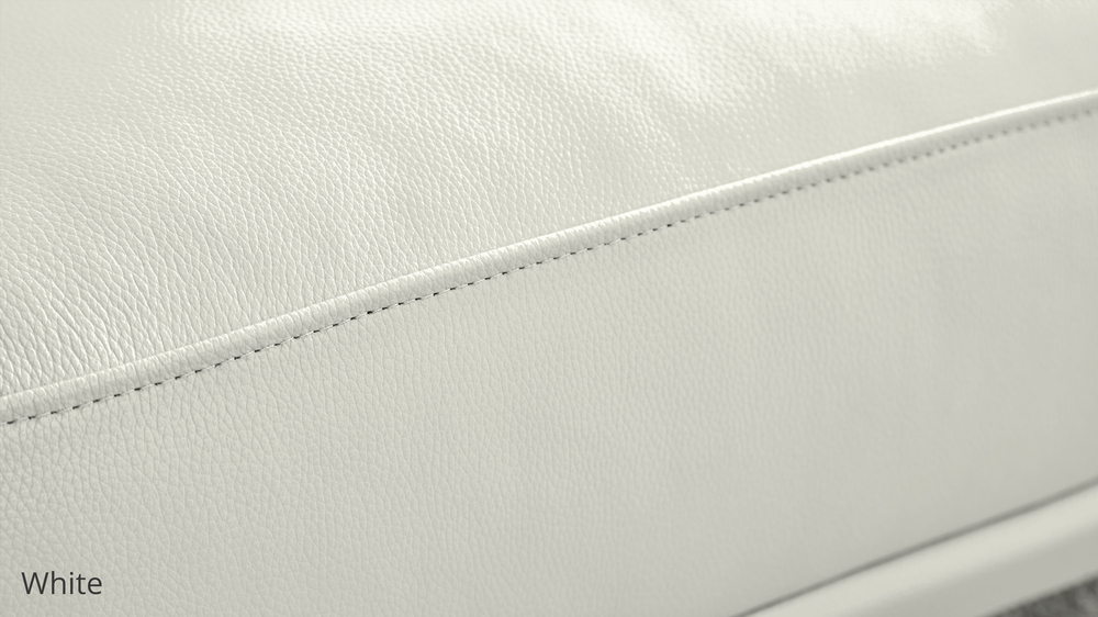 White Durable Leather
