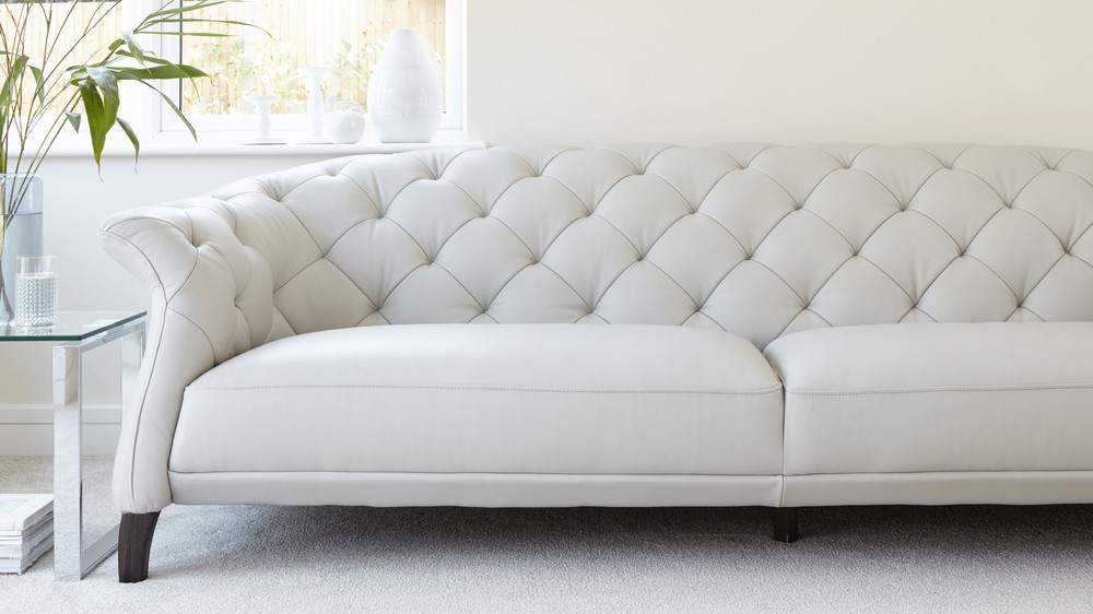 Luxe Modern Large 3 Seater Leather Chesterfield Sofa