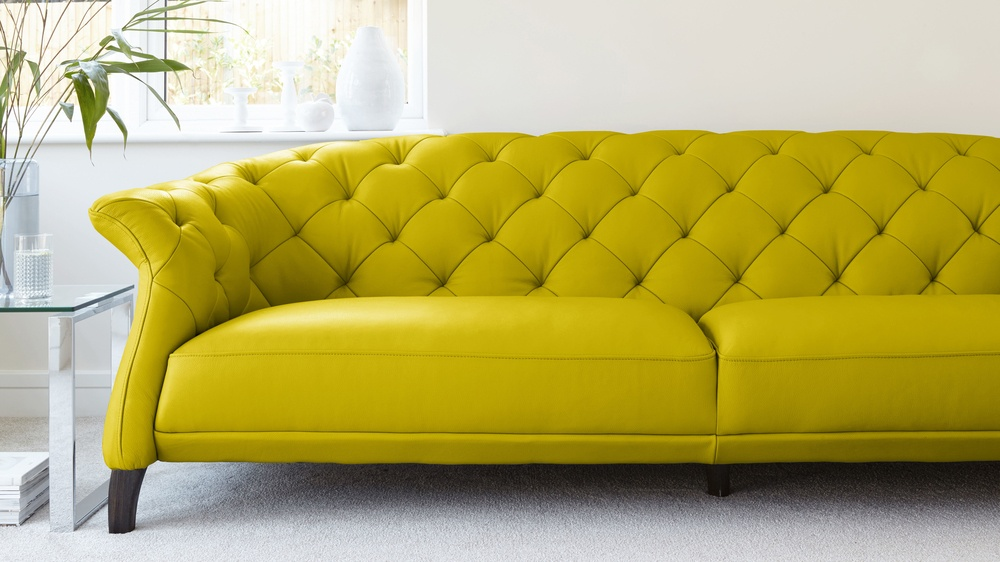 Yellow Statement Sofa