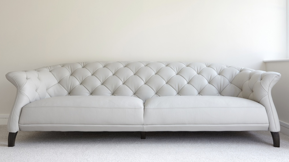Large Modern Three Seater Leather Sofa | Uk Delivery