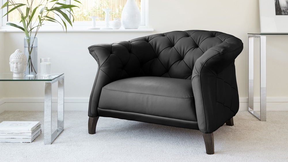 Black Luxury Leather Sofa