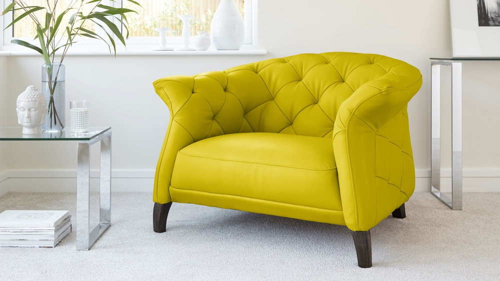 Yellow Statement Armchair Sofa