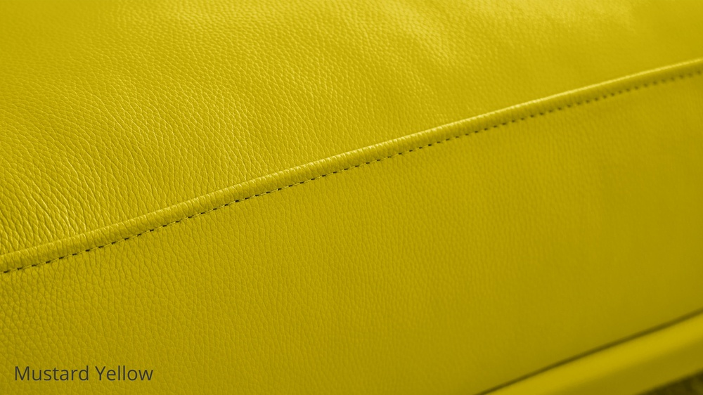 Mustard Yellow Leather