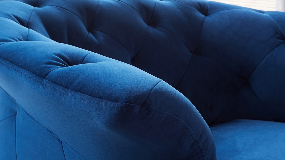 contemporary velvet armchair