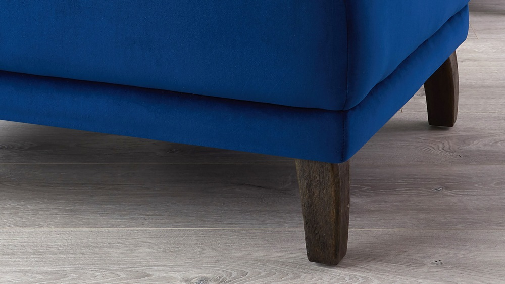 Contemporary velvet footstool