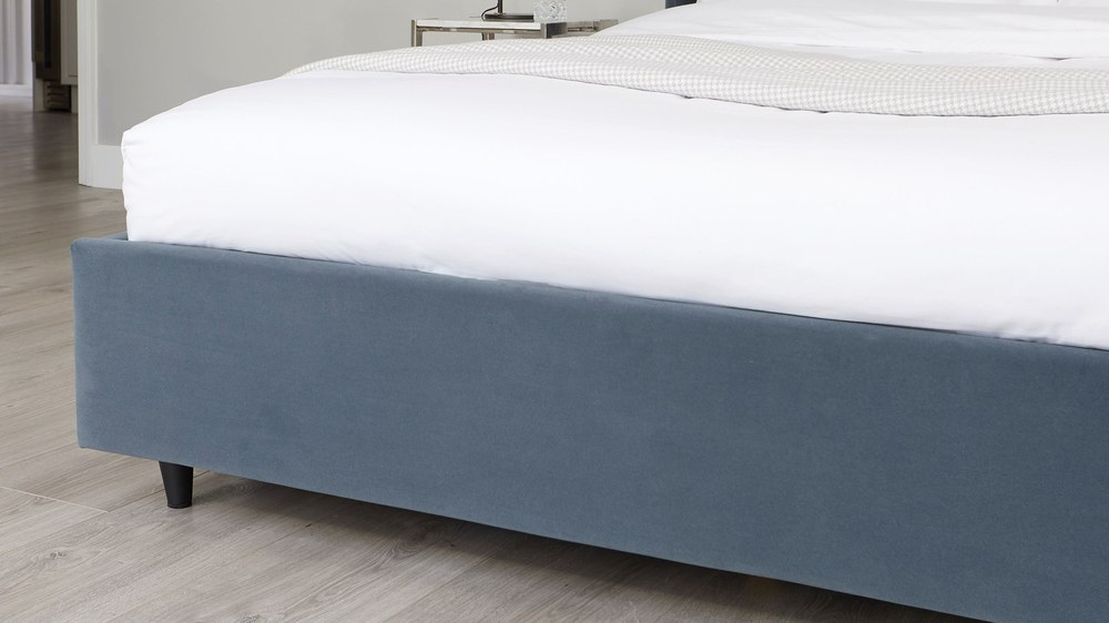 double velvet ottoman storage bed