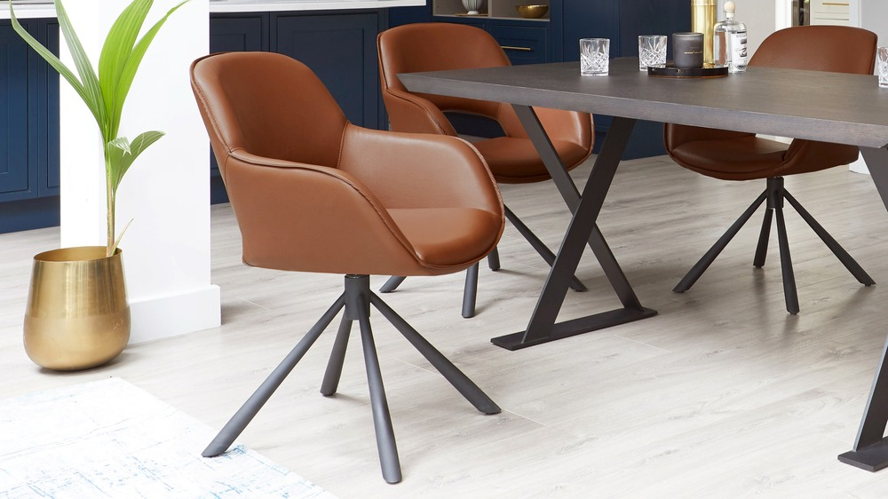 Marlow swivel dining chair