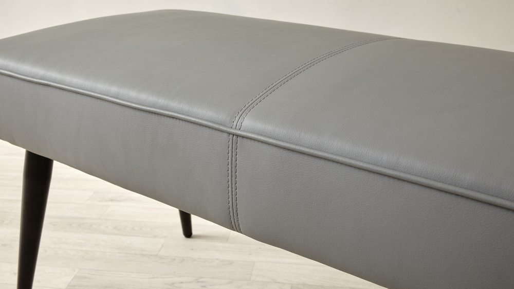 modern leather dining bench