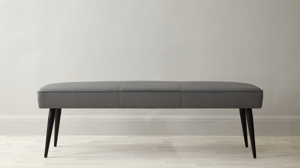 Modern Leather 3 Seater Bench