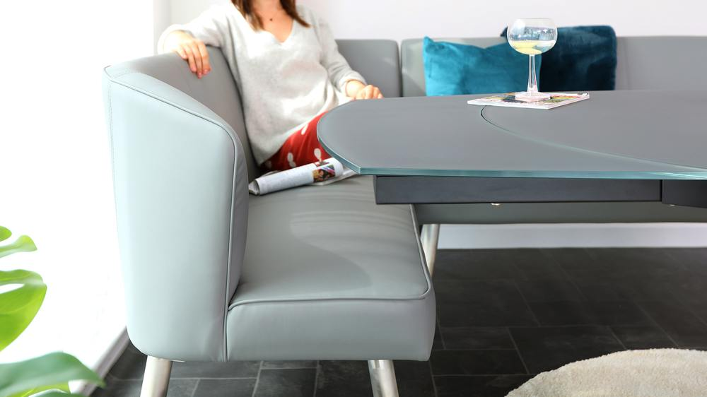 faux leather corner benches