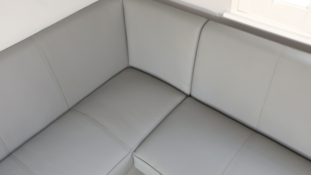 faux leather corner bench