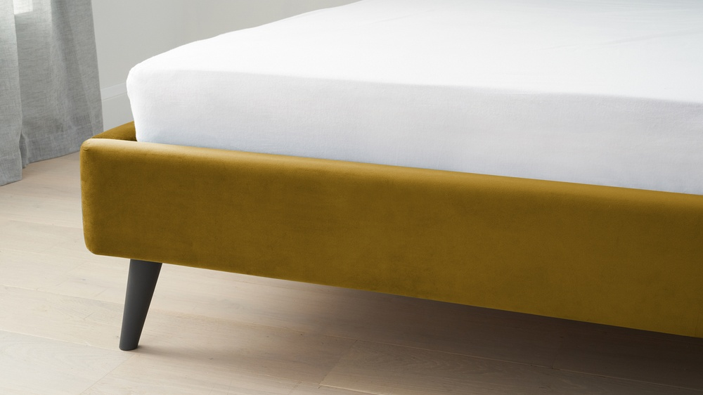 Buy yellow velvet beds danetti