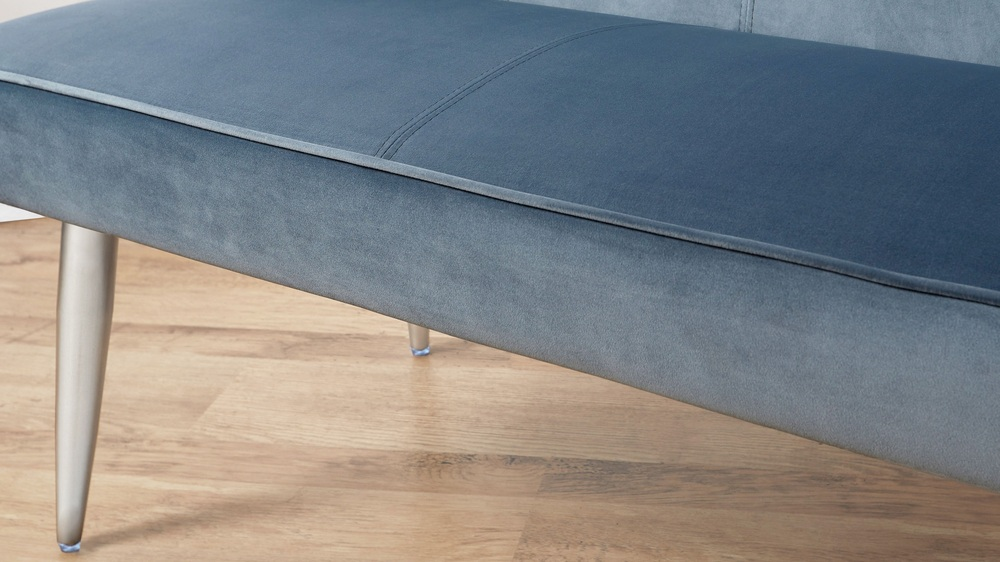 Modern easy clean velvet benches