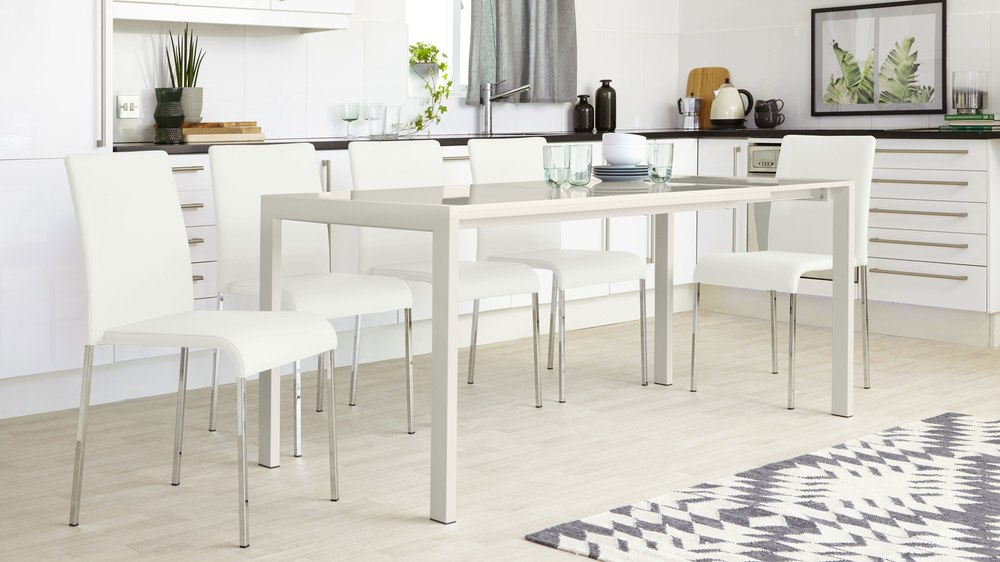 Grey Gloss and Tori Dining Chair Set