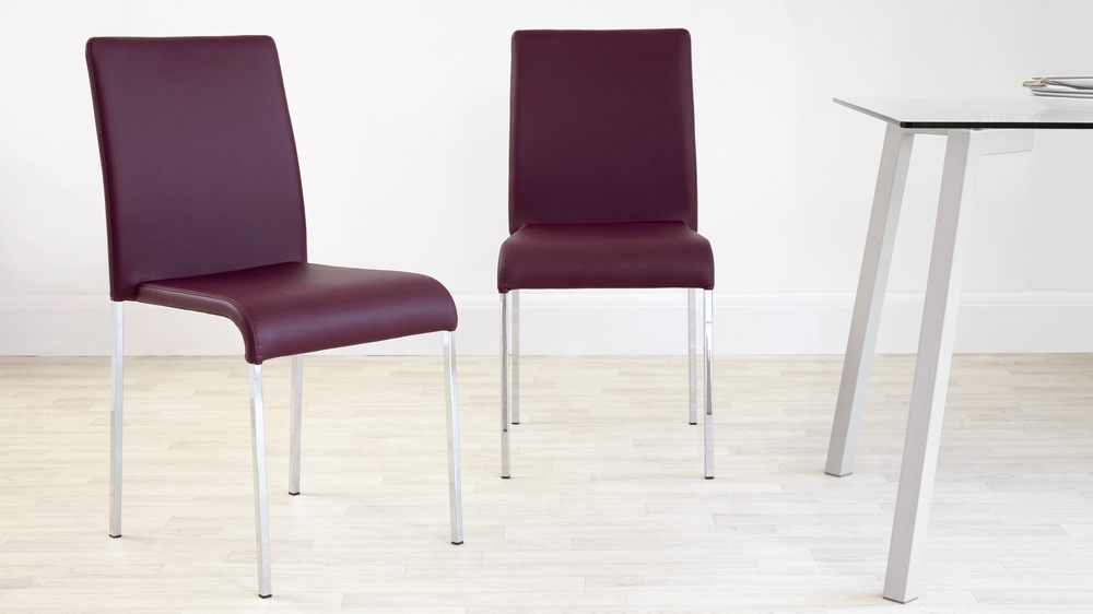 Purple Stackable Dining Chair