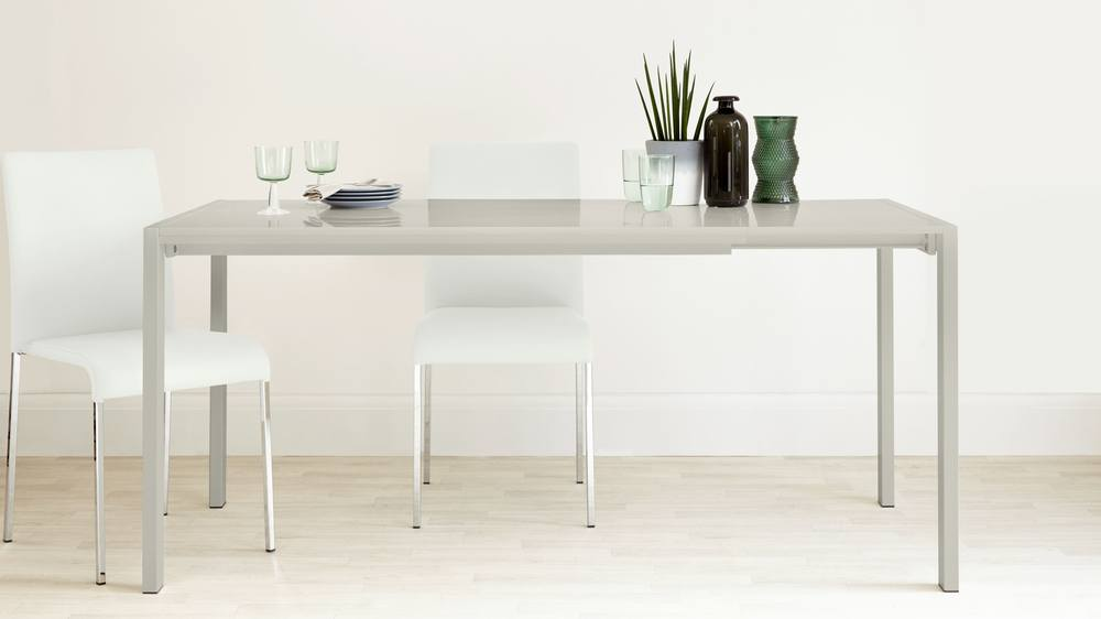 Gloss Table and Stackable Dining Set
