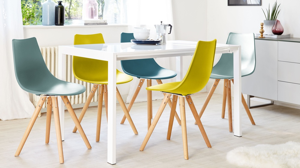 dining set with ten chairs