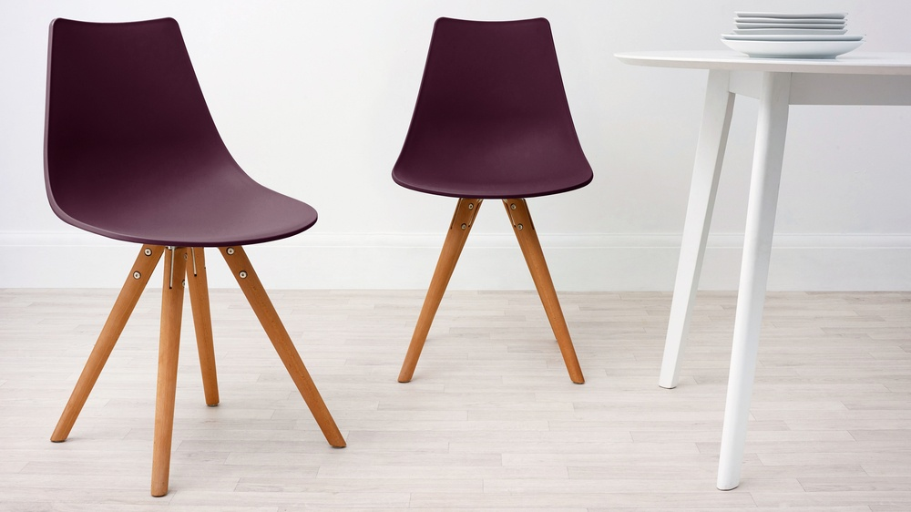 wipeable purple dining chairs for families