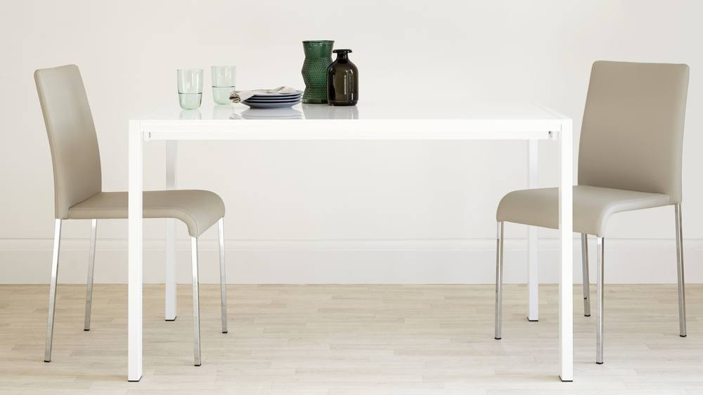 Metro White Gloss Table
